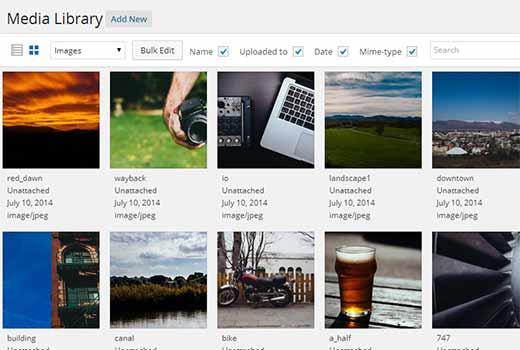 WordPress Media Kitabxanası Ağ Taxta Görünüşü 4.0