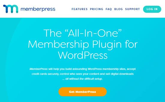 La página principal del acuerdo de MemberPress