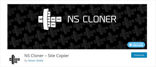 NS Cloner plugin for WordPress