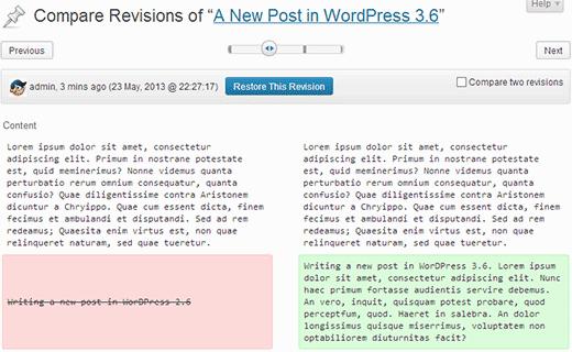 Parannetut versiot WordPressissä 3.6