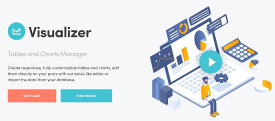 Complemento de visualizador de tablas y administrador de gráficos