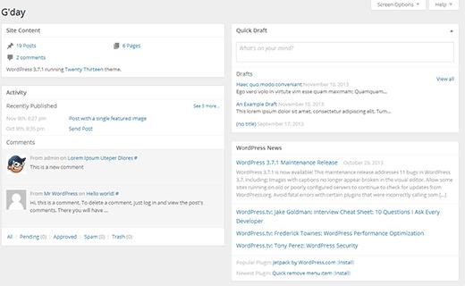 Odotettavissa on uusi vähemmän paisunut WordPress-kojetaulu 3.8
