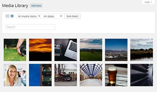 WordPress-də yeni media kitabxanası 4.0