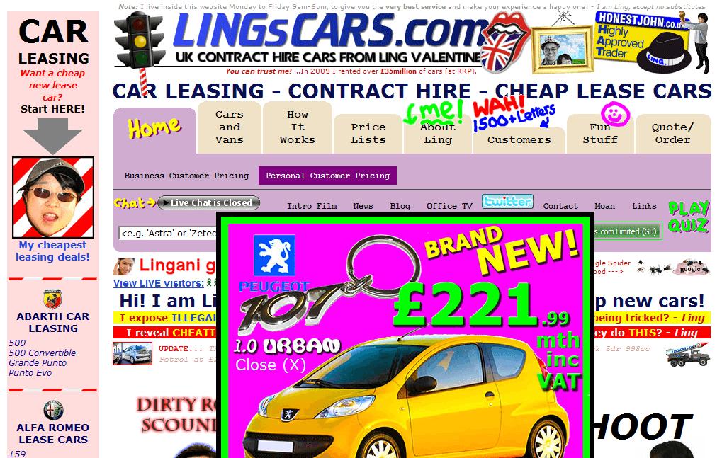 sitio web terrible