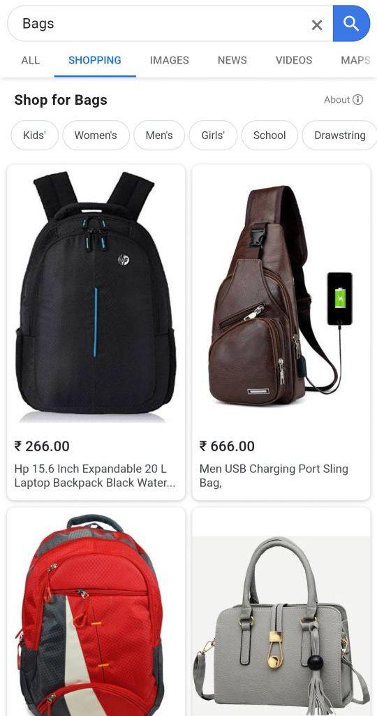 Compras de tendencias de SEO móvil
