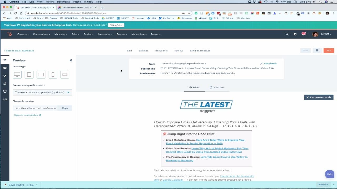 vista previa de correo electrónico