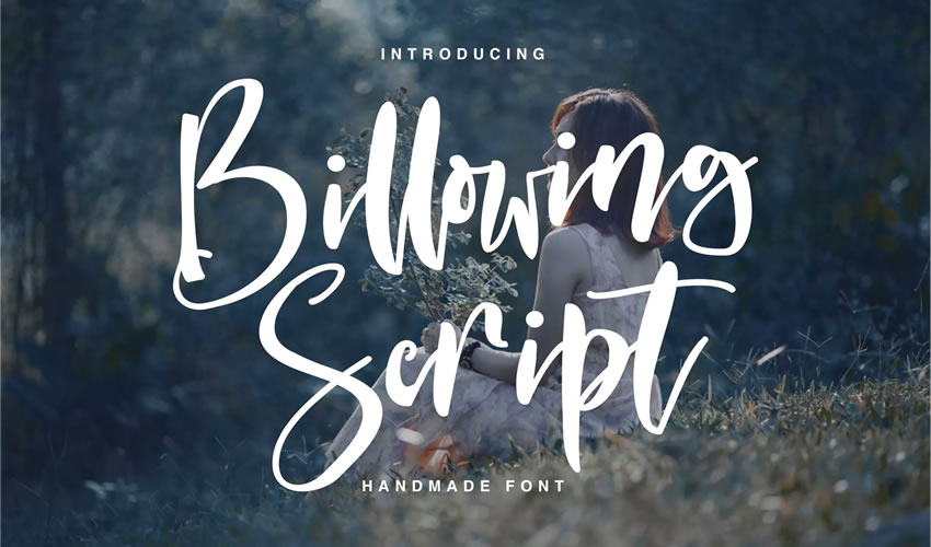 fuente libre caligrafía tipografía script Billowing Script
