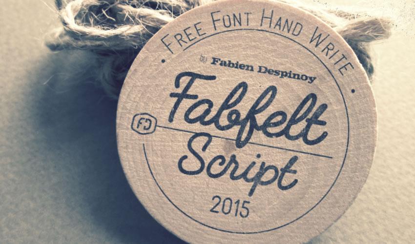 fuente libre caligrafía tipografía script Fabfelt Script