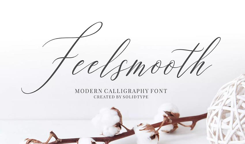 fuente libre caligrafía tipografía script Feelsmooth Script