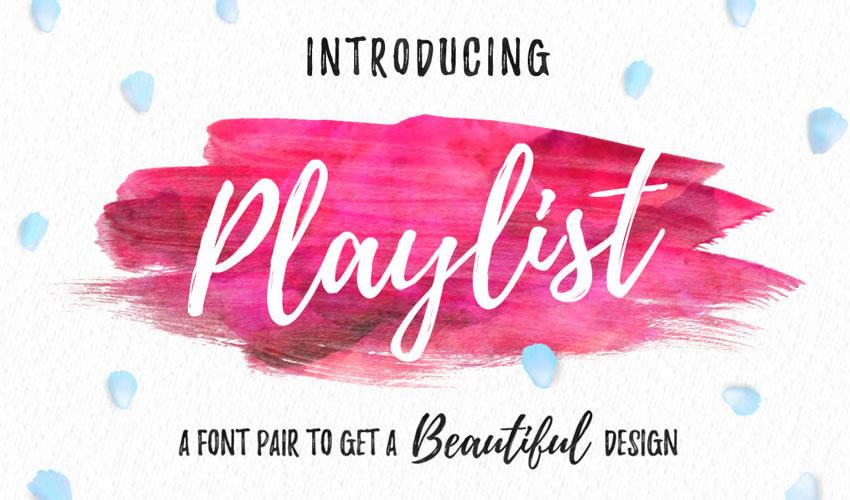 fuente libre caligrafía tipografía guión playlist
