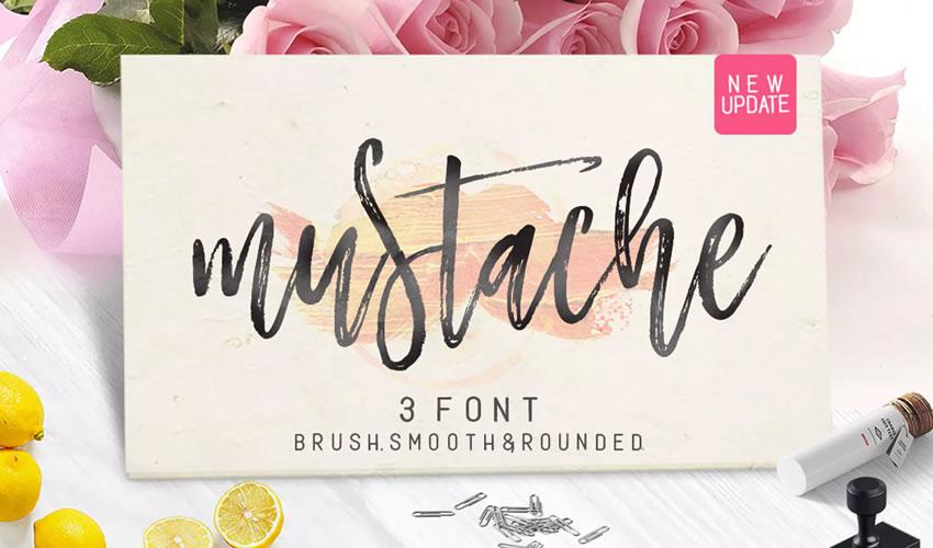 fuente libre caligrafía tipografía script Mustahe Brush