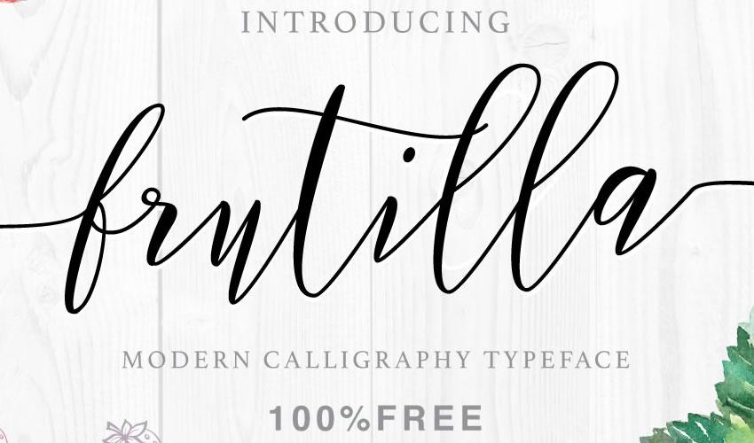 fuente libre caligrafía tipografía script Fresa script