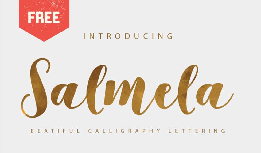 fuente libre caligrafía tipografía script caligrafía Salmela