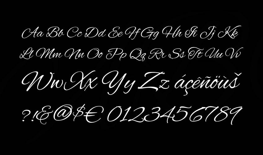 fuente libre caligrafía tipografía script Alex Brush