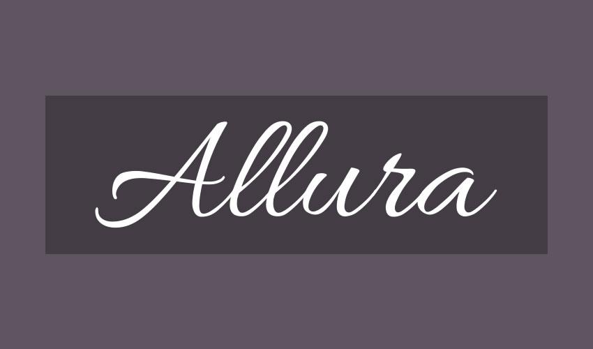 fuente libre caligrafía tipografía script Allura