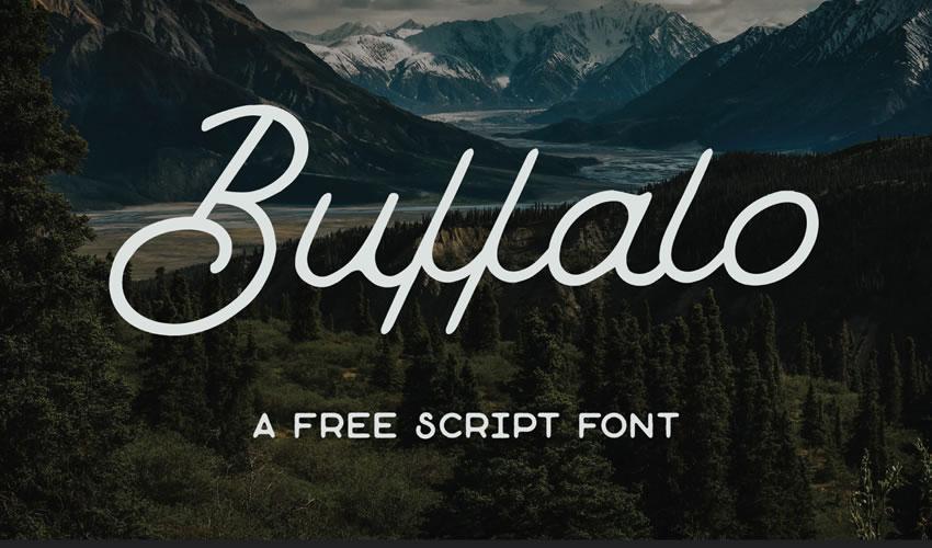 fuente libre caligrafía tipografía script Buffalo
