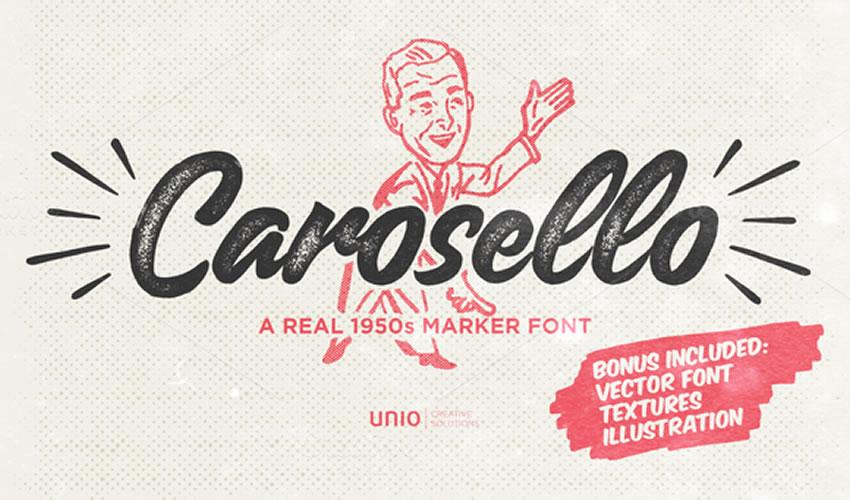 fuente libre caligrafía tipografía script Carosello