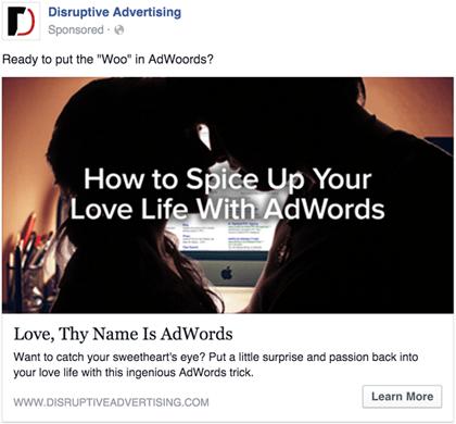 AdWords of Love   Publicidad disruptiva