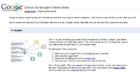búsqueda experimental de google