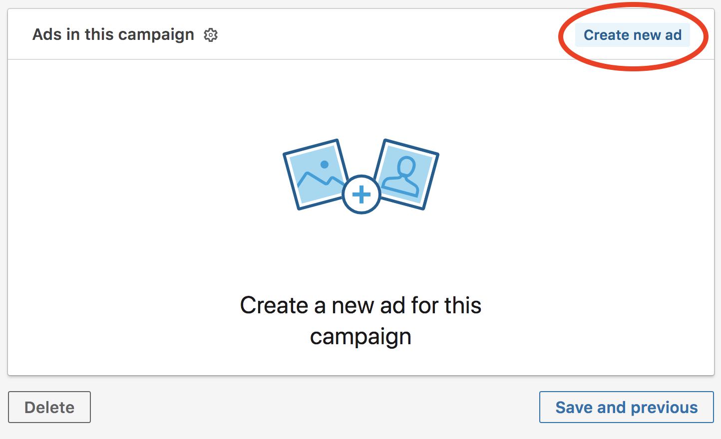 publicité sur linkedin créer une nouvelle annonce