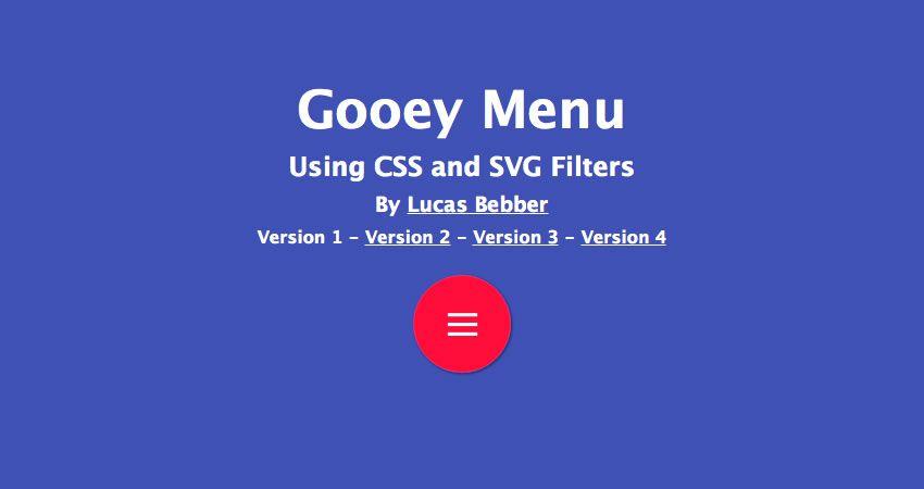 Gooey efektinin SVG filtresi hakkında eğitim