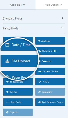 agregar campo de carga de archivos
