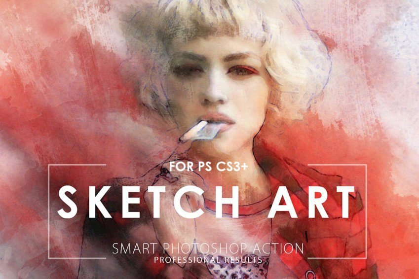Sketch Art Smart Photoshop Action