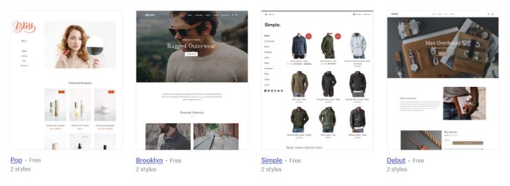 Shopify-teme