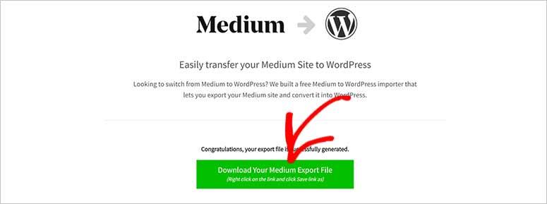 Descargar el archivo Medium a WordPress