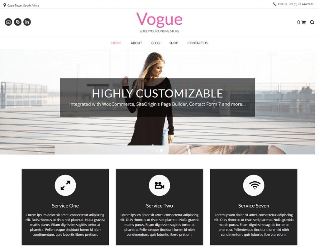 """vogue-wp-woocommerce-theme """"width ="""" 720 """"height ="""" 563 """"srcset ="""" https://themegrill.com/blog/wp-content/uploads/2016/06/vogue-wp-woocommerce-theme-1024x801 .jpg 1024w, https://themegrill.com/blog/wp-content/uploads/2016/06/vogue-wp-woocommerce-theme-300x235.jpg 300w, https://themegrill.com/blog/wp-content /uploads/2016/06/vogue-wp-woocommerce-theme-768x601.jpg 768w, https://themegrill.com/blog/wp-content/uploads/2016/06/vogue-wp-woocommerce-theme.jpg 1150w """"tamaños ="""" (ancho máximo: 720px) 100vw, 720px """"> Vogue es una de las plantillas de WordPress versátiles, populares y fáciles de configurar que Kaira pone a tu disposición. Es un tema multipropósito y receptivo que viene junto con con la funcionalidad de múltiples opciones de diseño de encabezado y pie de página. Este tema se puede usar de la forma que desee, ya sea que desee convertirlo en su cartera, perfil comercial o incluso tienda de comercio electrónico.</p> <p>La plantilla presenta el simple Creador de páginas de arrastrar y soltar que lo hace fácil de usar y fácil de usar. ¡Esto significa que no necesita ningún conocimiento de codificación para que su sitio sea atractivo y llamativo! Diseño elegante y limpio, este tema se integra fácilmente con los complementos populares como Beaver Builder, Contact Form 7, etc.</p> <p>Con la facilidad de personalización simple, puede convertir este sitio en cualquier tipo de sitio web que desee. En conclusión, esta es la mejor plantilla versátil que puede probar para hacer su perfil comercial. You can try out this template for free and download it from the official WordPress site.</p> </p> <hr> <h3>Advance</h3> <p><img class="""