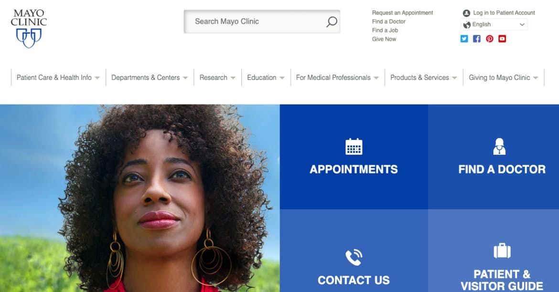 sitio web de mayo clinic blue