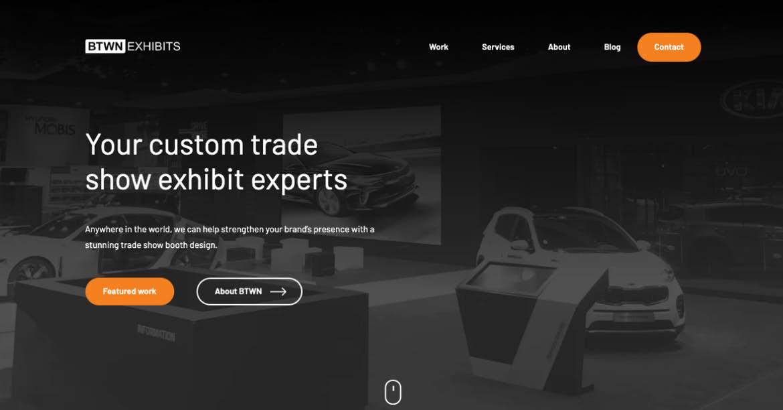 Sitio web de BTWN Exhibits black