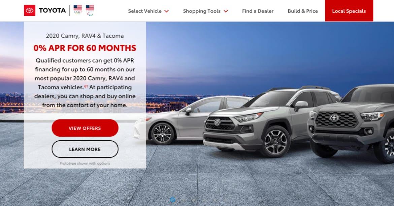 Sitio web de Toyota red