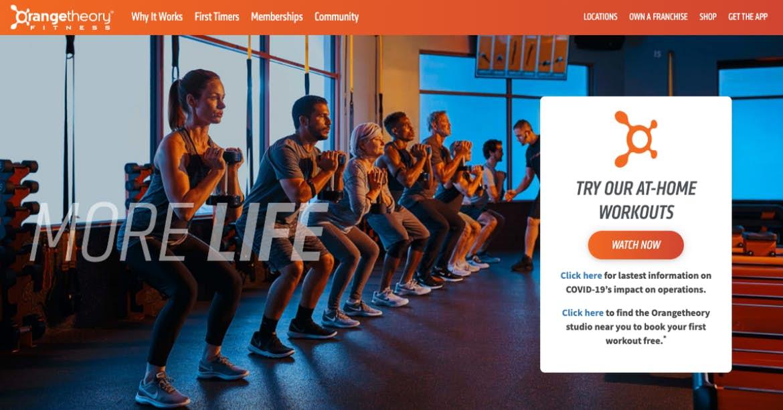 Sitio web de naranja orangetheory