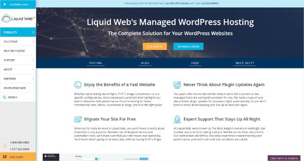 proveedor de alojamiento de wordpress gestionado por web líquido