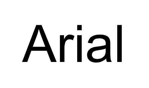 Captura de pantalla de la fuente Arial (buenas fuentes para usar en el diseño de tu blog)
