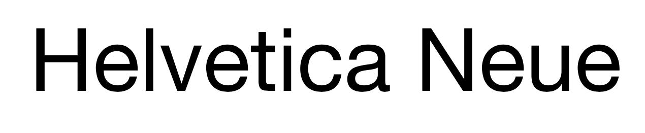 Captura de pantalla de la fuente Helvetica Neue (buenas fuentes para usar en el diseño de tu blog)