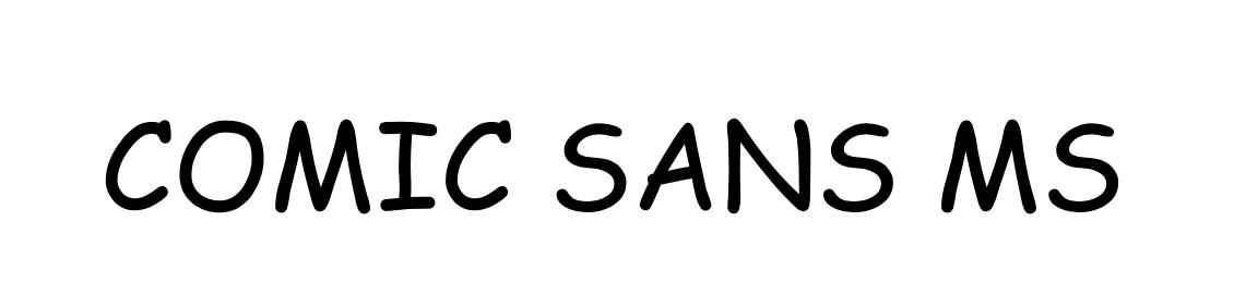 Captura de pantalla de fuente Comic Sans (fuentes malas para usar en el diseño de tu blog)