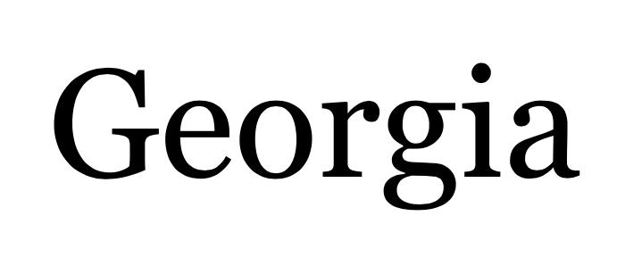 Captura de pantalla de fuentes de Georgia (buenas fuentes para usar en el diseño de tu blog)