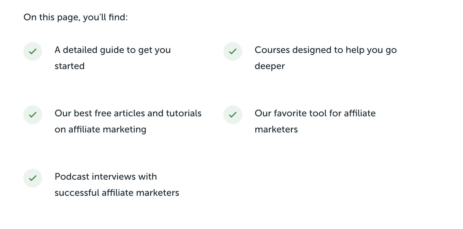 Página de destino de SPI (ejemplo de diseño de blog) para temas de marketing de afiliación