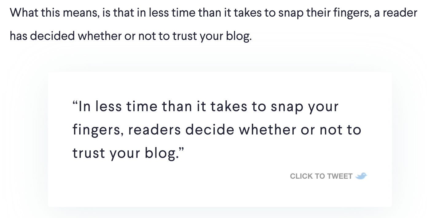 Click to Tweet Twitter Share Button to Increase Blog Engagement (Screenshot)