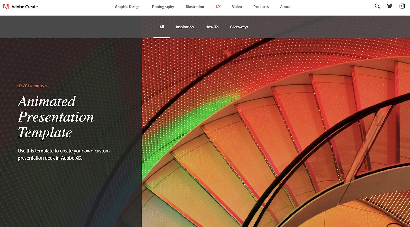 Adobe Create Blog Imagery Examples (Screenshot)