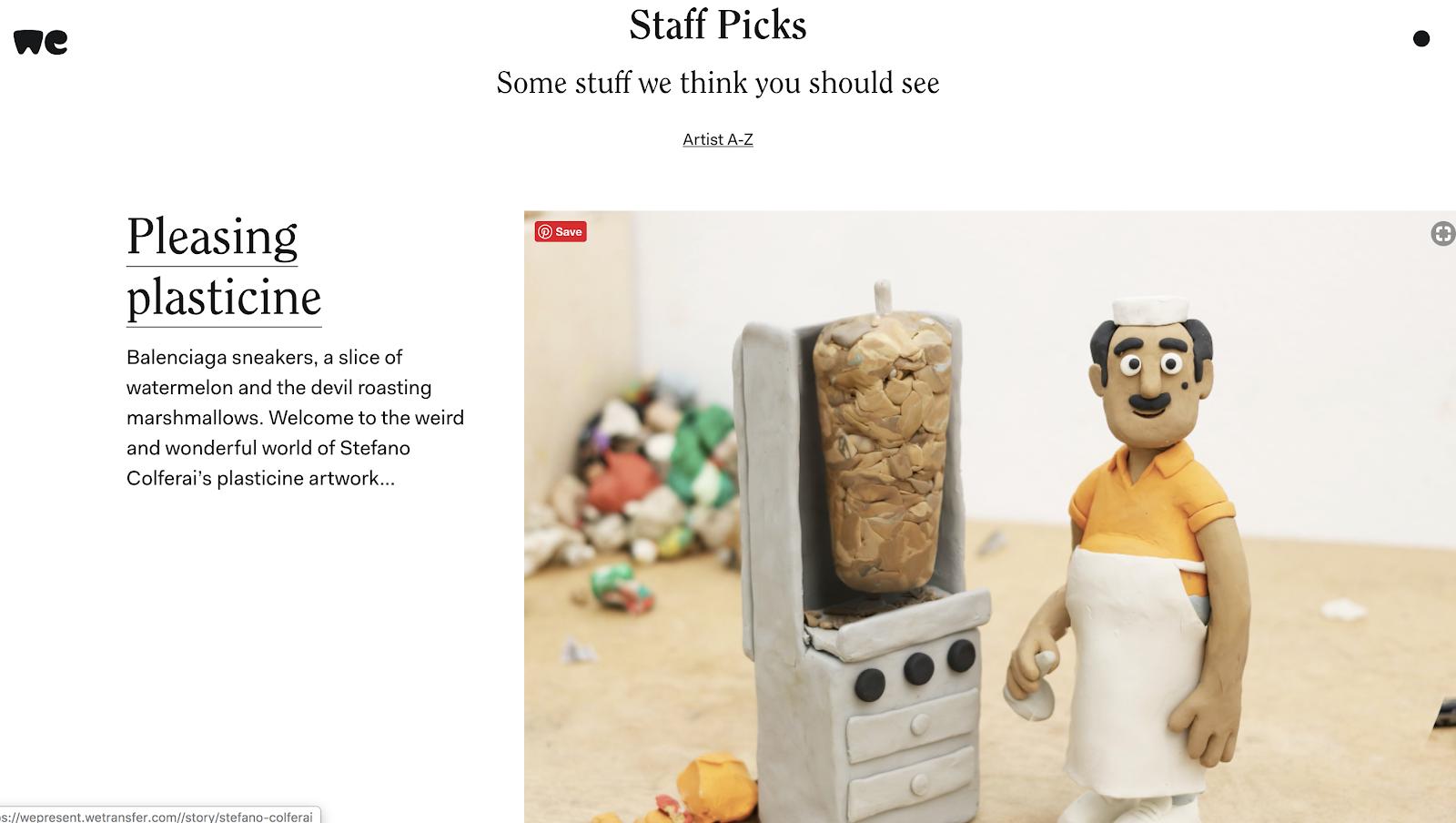 WePresent Blog Design Example (Images Next to Content) Screenshot
