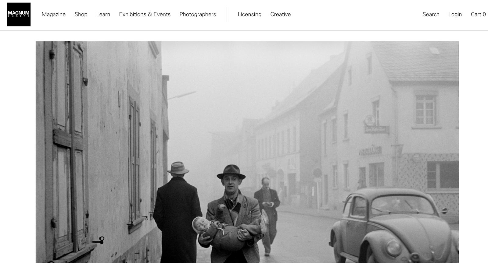 Magnum Photos Homepage Screenshot (Blog Layout Examples)