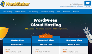 HostGator WordPress Cloud Hosting Revisión