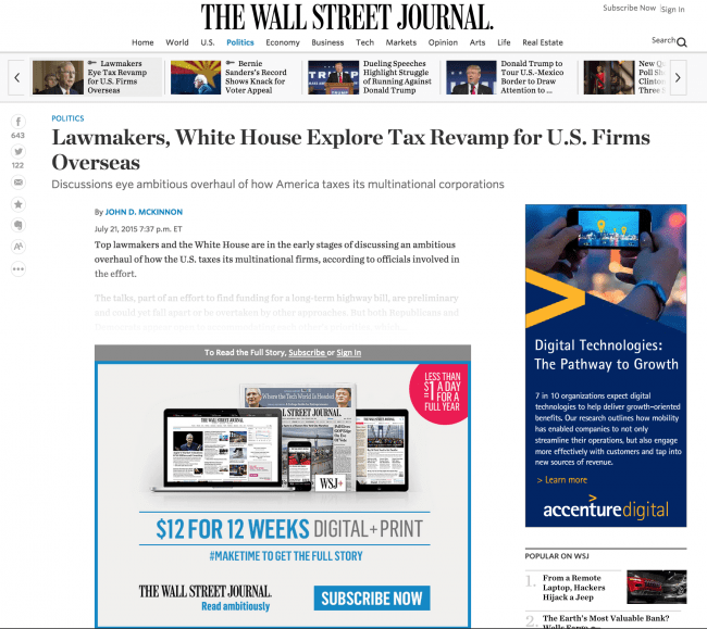 WSJ Pay Wall