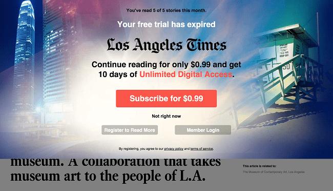LA Times Pay Wall