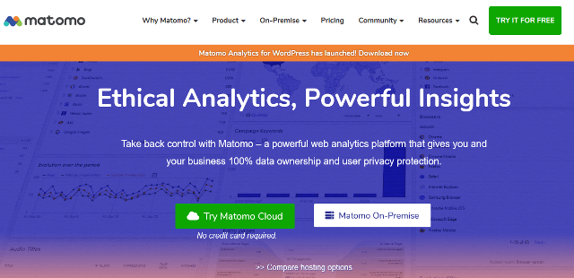 Alternativas de Matoma Google Analytics