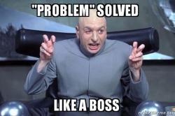 problema resuelto como un jefe