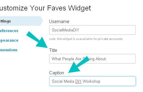 favori widget ayarları